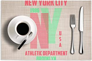 New york brooklyn modern Dining Table Mats Washable Easy to clean PVC pad 18