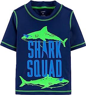 Carter's Free Combination Boys Rashguard and Swim Trunks (Shark