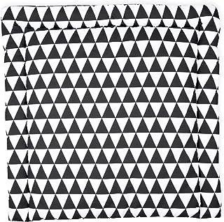 Wickelbezug in 50 x 70 cm tief abwaschbar KraftKids Bezug f/ür Keilwickelauflage Chevron dunkelblau Wickelunterlage-Bezug aus 100/% Baumwolle