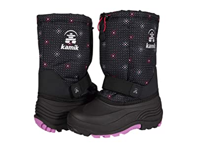 Kamik Kids Rocket 2 (Toddler/Little Kid/Big Kid) (Black/Pink) Girls Shoes