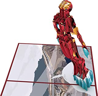 Lovepop Marvel's Iron Man 3D Pop Up Greeting Card, Iron Man Pop Up Birthday Card, Superhero Card