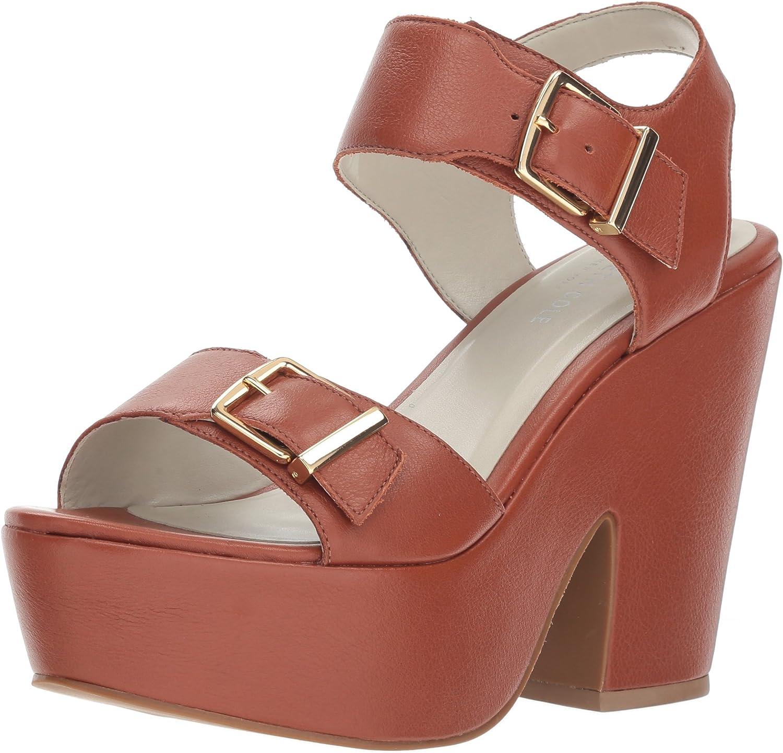 Kenneth Cole New York Womens Shayla Platform Sandal Heeled Sandal