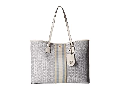Tory Burch Gemini Link Canvas Tote (New Ivory) Handbags