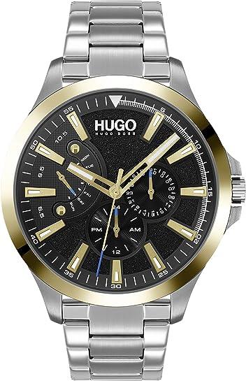 Hugo orologio analogico quarzo uomo con cinturino in acciaio inox 1530174