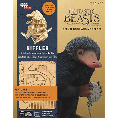 A VINTAGE STYLE FANTASTIC BEASTS MAGICAL CREATURES WOODEN CRATE GREAT GIFT
