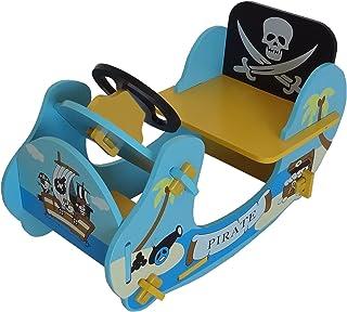 Kiddi Style Children's Pirate Wooden Rocker Ride On Boat, 69 x 34 x 44 cm
