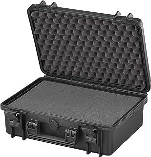 Max MAX430S.079 Waterproof Photography Hard Plastic Flight Case, Tool Box, Black