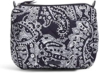 Vera Bradley Women's Performance Twill Carson Shoulder Crossbody Purse, Deep Night Paisley Neutral, One Size