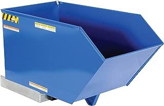 Vestil H-50-HD Low Profile Heavy Duty 90 Degree Self-Dumping Hopper, Steel, 6000 lbs Capacity, Overall W x L x H (in.) 27 x 51-1/4 x 28-3/16, Front Lip to Floor (in.) 20-5/8
