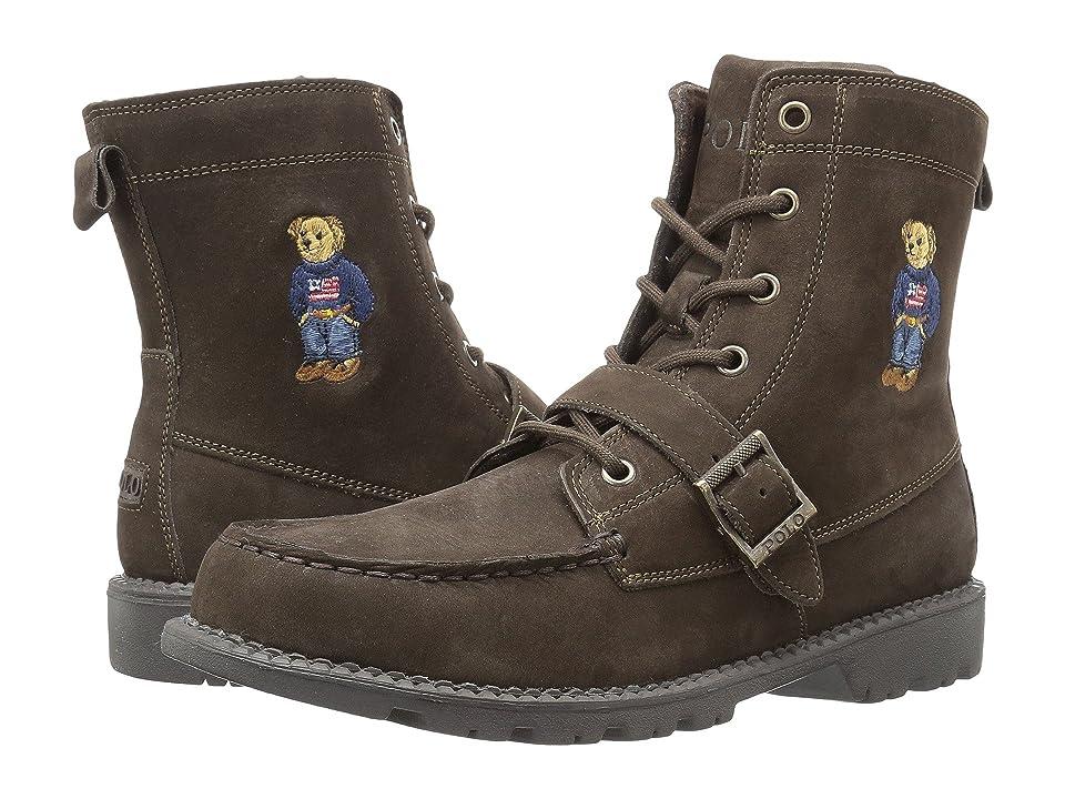 Polo Ralph Lauren Kids Ranger Hi II (Big Kid) (Chocolate Nubuck/Polo Sweater Bear) Boys Shoes