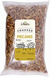 La Nogalera Pecans - Fresh Crop of 2 lbs Chopped pecans. Raw pecan nuts that compare to organic, NO SHELL, ...
