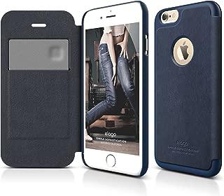 iPhone 6S Case, elago [Leather Flip][Jean Indigo/Jean Indigo] - [Card Slot][Screen Protection][Premium Hybrid Construction] – for iPhone 6/6S