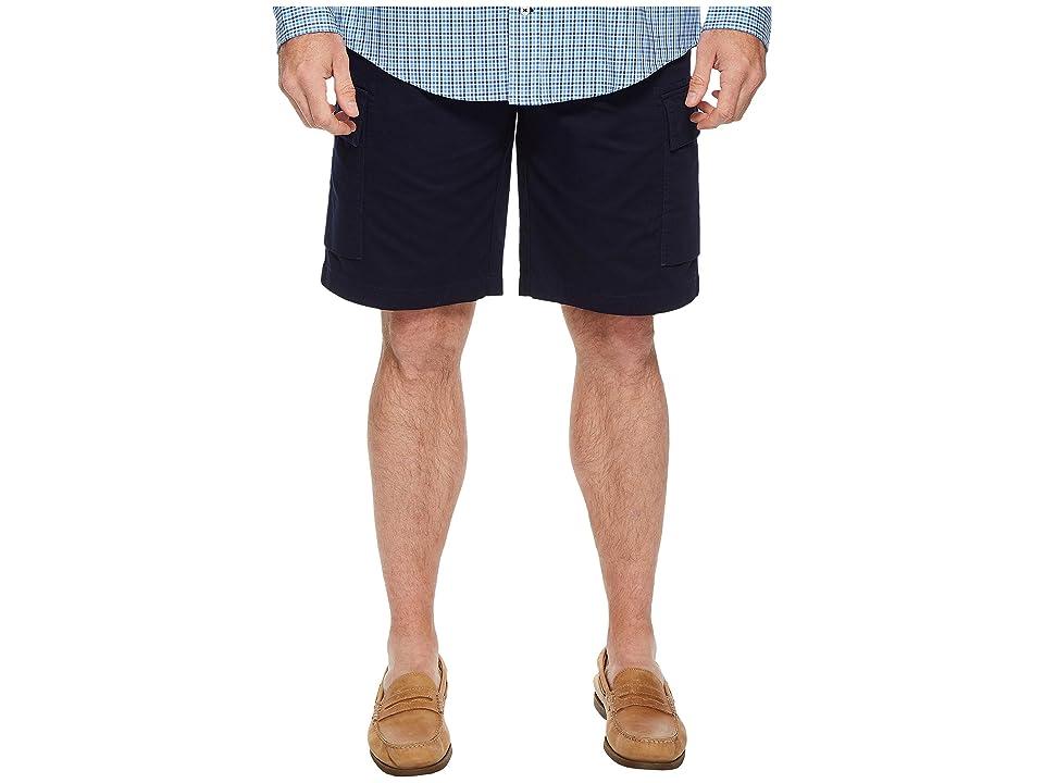 Lacoste Broken Twill Cargo Bermuda Shorts (Navy Blue) Men