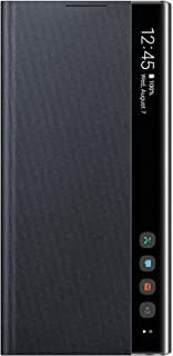 Samsung S-View Flip Case Cover for Galaxy Note10 - Black (Renewed)