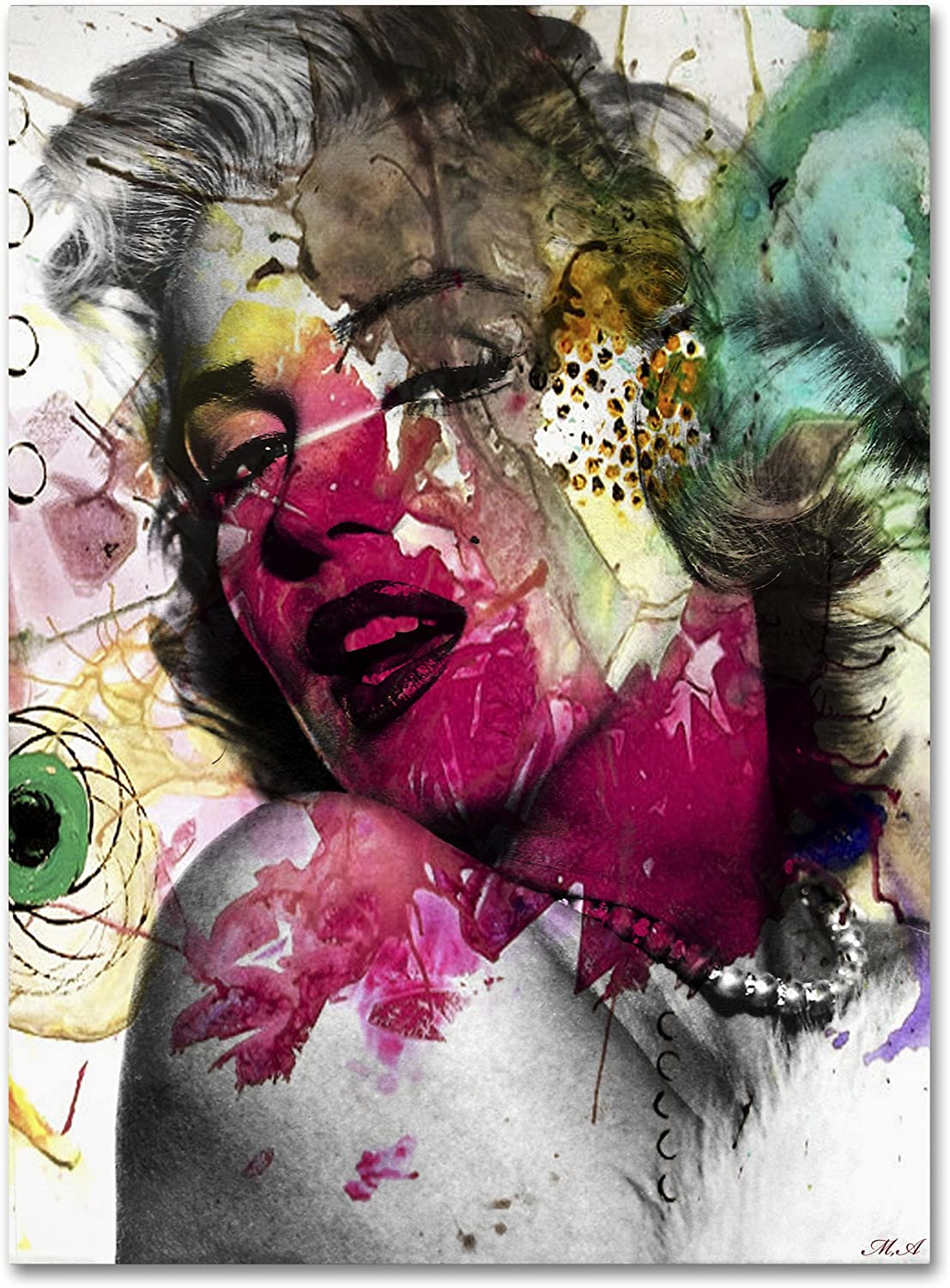 Marilyn Popular shop is the lowest price challenge Monroe II by Mark Max 67% OFF Ashkenazi Canvas 24 Decor Wall 32