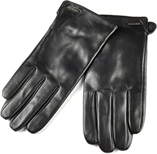 SIEFERSN Simple Basic Style Men's Lambskin Gloves Whole Hands Touchscreen Winter Warm Leather Gloves 1164225013