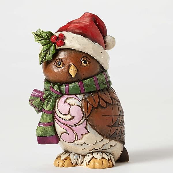 Jim Shore Heartwood Creek Owl Be Home Stone Resin Figurine 4 75