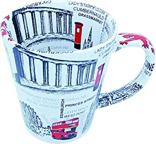 Sterling Product FM007 Premium Quality Ceramic Tea & Coffee Mug, 350 milliliters