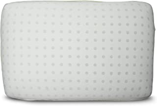 SHARPER IMAGE Aromatherapy Memory Foam Pillow, Visco Elastic Memory Foam with Washable Removable Cover, Vented Cool Airflow, Hypoallergenic, Infused with Eucalyptus Essential Oil for Relaxation