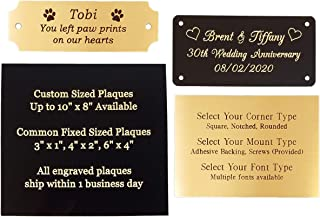 small engraved plaque 50 x 25mm brushed brass effect or brushed stainless steel effect various sizes personlised plaques free engraving