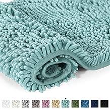 Bathroom Rug Shag Shower Mat Machine-Washable Plush Bath Mats with Water Absorbent Soft Microfibers, 20