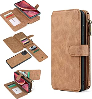 for Google Pixel 4A 5G Wallet Case Multi-Functional PU Leather Purse Flip Zip [2in1] Magnetic Detachable Leather Folio Cas...