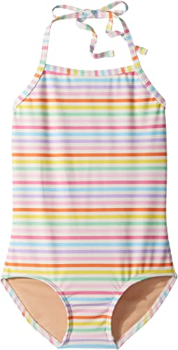 Toobydoo Rainbow Stripe One-Piece Swimsuit (Infant/Toddler/Little Kids/Big Kids)
