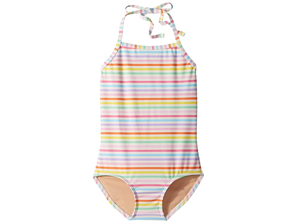 Toobydoo Rainbow Stripe One-Piece Swimsuit (Infant/Toddler/Little Kids/Big Kids) (Multi) Girl