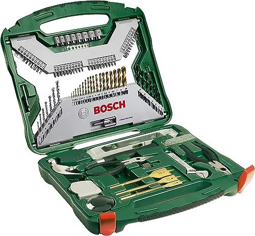 Bosch 103 Piece Bosch X-Line Titanium Drill and Screwdriver Bit Set (For Wood, Masonry, and Metal)