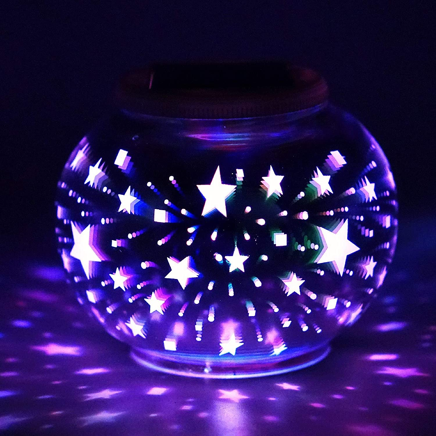 Al sold out. Max 73% OFF Solar Ball Table Light 3D Color Globe Water Changing Lamps Glass