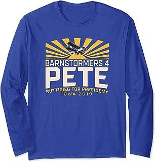 Barnstormers4Pete Buttigieg (#1 / Primary Design / Iowa) Long Sleeve T-Shirt
