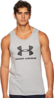 Under Armour Sportstyle Logo Tank, Men's Vest with Soft Feel and Loose Cut, Sleek Men's Sleeveless T-Shirt with Graphic De...