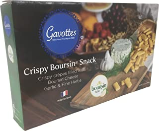 Gavottes Crispy Boursin Snack Crispy Crepes Filled with Boursin Cheese, Garlic & Fine Herbs (10.6 oz)