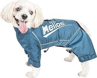 Dog Helios ® 'Hurricanine' Waterproof And Reflective Full Body Dog Coat Jacket W/Heat Reflective Technology, Medium, Blue