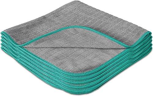 LAVANDOLA® 5x Premium Chiffons de Nettoyage pour la Maison - Chiffons en Microfibres sans Peluches pour un e Brillanc...