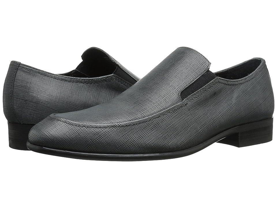 Calvin Klein Varro (Dark Grey Textured Leather) Men