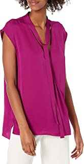 Theory Women's Sleeveless Relaxed Wrap Vneck Top