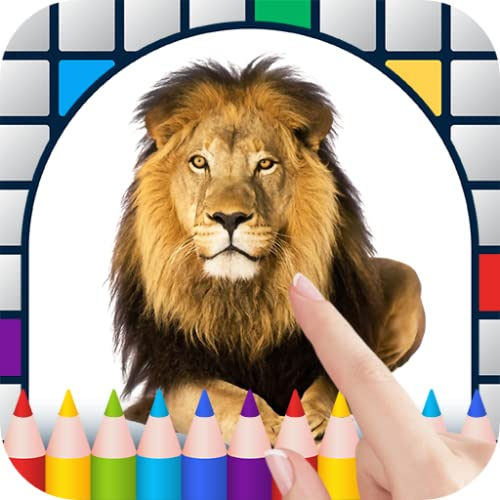 Safari Animals Color by Number - Free Pixel Art Game - Coloring Book Pages - Happy, Creative & Relaxing - Paint & Crayon Palette - Zoom in & Tap to Color - Share Creations with Friends!