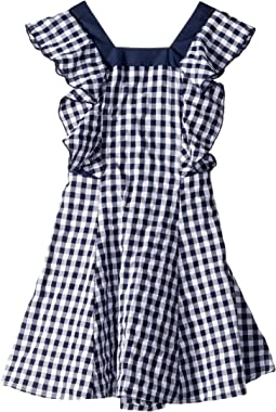 Gingham w/ Ruffle Sleeve Dress (Toddler/Little Kids)