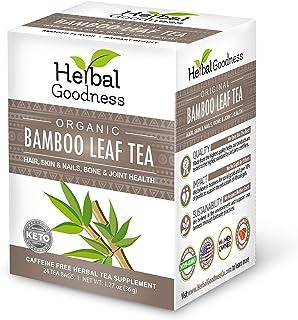 Bamboo Leaf Tea - Natural Silica - Vegan Collagen Superfood - Silica & Dietary Fiber Hair Skin Nail & Joint Supplement, Bo...