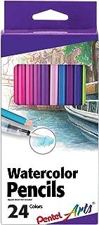 PENTEL Arts Watercolor Pencils 24/ Package, Assorted (CB9-24)