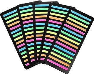 極細ふせん 5色 300枚×5セット 下の文字が透けて見える透明フィルムタイプ
