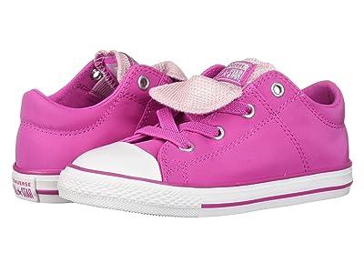 Converse Kids Chuck Taylor All Star Maddie Metallic Slip (Infant/Toddler) (Active Fuchsia/Pink Foam/White) Girls Shoes