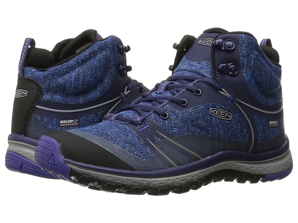 Keen Terradora Mid Waterproof (Astral Aura/Liberty) Women's Shoes, Blue