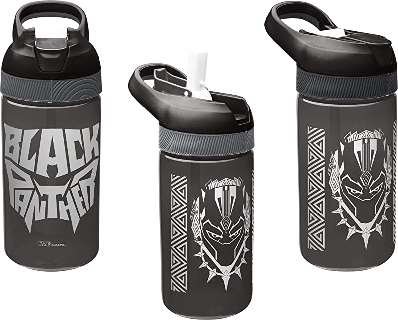 Zak Designs 3 Pack Marvel S Black Panther 16oz Pacific Sipper Water Bottle BPA Free