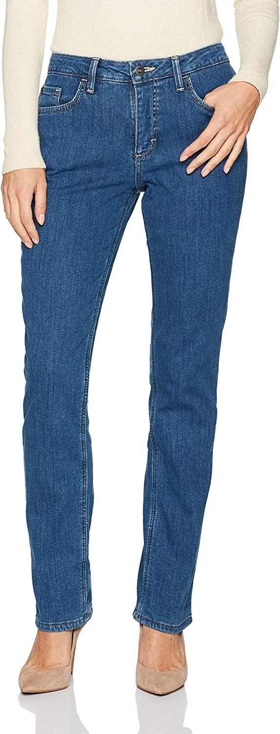 Fees free!! Riders by Lee Clearance SALE Limited time Indigo Women's Lined Slim Fleece Straight
