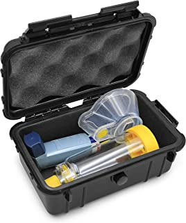 Casematix Asthma Inhaler Case Fits Inhaler Spacer for Adults or Kids, Inhaler Asthma and Mask with Airtight Seal for Medic...