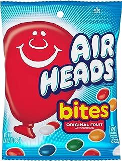 AirHeads Bites Candy Peg Bag, Fruit, Non Melting, 3.8 Ounce (Bulk Pack of 12)