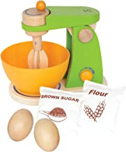Hape - Playfully Delicious - Mighty Mixer Wooden Play Kitchen Set with Bonus Play Eggs