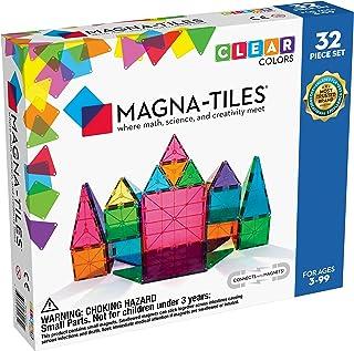 Magna-Tiles 32-Piece Clear Colors Set, The Original...